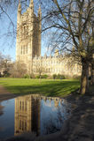 Victoria Tower reflected in puddle Royalty Free Stock Photos