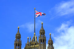 Victoria Tower Union Flag Westminster Palace London Stock Photo