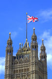 Victoria Tower Union Flag Westminster Palace London Royalty Free Stock Images