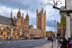 Victoria Tower von Westminster-Palast, London, Großbritannien lizenzfreie stockbilder