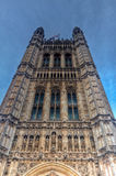Victoria Tower, Westminster, casas do parlamento, Londres, Reino Unido imagens de stock royalty free