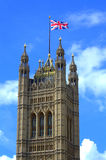 Victoria Tower Westminster London stock foto's