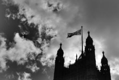 Victoria tower at Westminster, London royalty free stock photo