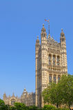 Victoria Tower of Westminster Palace in London Stock Photography
