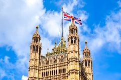 Victoria Tower of Westminster Palace, London, UK royalty free stock images