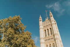 Victoria Tower, from Westminster Palace. London, United Kingdom royalty free stock photos