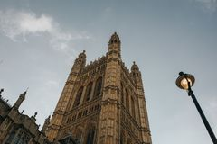 Victoria Tower, from Westminster Palace. London, United Kingdom royalty free stock images