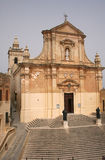 Victoria town in Gozo island Malta. Church in Victoria town in Gozo island Malta Royalty Free Stock Photography