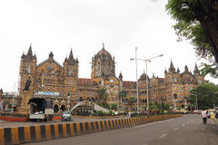 Victoria train station in Bombay Stock Images