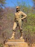 VICTORIA VALT, ZIMBABWE - OKTOBER 4, 2013: Standbeeld van David Livingstone in Victoria Falls National Park, Zimbabwe Stock Afbeelding