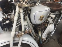 Victoria vintage motorcycle. Berlin, Germany - May 13, 2017: Victoria vintage motorcycle. Victoria was a bicycle manufacturer in Nürnberg, Germany, that made Royalty Free Stock Images