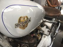 Victoria vintage motorcycle. Berlin, Germany - May 13, 2017: Victoria vintage motorcycle. Victoria was a bicycle manufacturer in Nürnberg, Germany, that made Royalty Free Stock Image