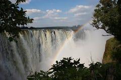 Victoria-Wasserfall Lizenzfreie Stockbilder