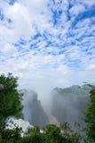 Victoria-Wasserfall, Zimbabwe lizenzfreies stockbild