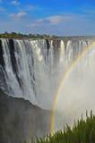 Victoria Waterfall Rainbow Falls Stock Photo