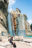 Victoria Waterfall and Royal Mountain in Canada's Wonderland Royalty Free Stock Photos