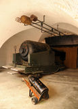 Victoriaans 38 tonkanon. Stock Afbeelding