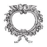 Victoriaans bloemenframe met engelenillustratie Royalty-vrije Stock Afbeelding