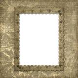 Victoriaans frame met bloemenornament Stock Fotografie