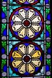 Victoriaans gebrandschilderd glas stock foto