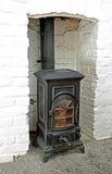 Victoriaans houten brandend fornuis royalty-vrije stock afbeeldingen