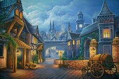 Victoriaans Londen royalty-vrije illustratie