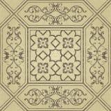 Victoriaans patroon Het eindeloze patroon kan voor keramische tegel, behang, linoleum, Web-pagina achtergrond worden gebruikt stock illustratie