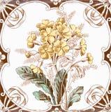Victoriaanse antieke tegel royalty-vrije stock foto's