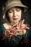 Victoriaanse dame Stock Afbeeldingen