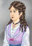 Victoriaanse dame Royalty-vrije Stock Afbeelding
