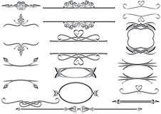 Victoriaanse frames of rulelines Stock Afbeelding