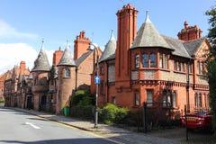Victoriaanse huizen. Chester. Engeland royalty-vrije stock foto