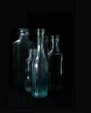 Victoriaanse Glasflessen Stock Afbeelding