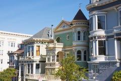 Victoriaanse huizen Royalty-vrije Stock Afbeeldingen