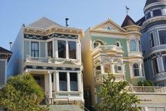 Victoriaanse huizen Royalty-vrije Stock Foto's