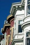 Victoriaanse huizen het Vierkant in van San Francisco, Alamo Stock Afbeeldingen