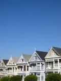 Victoriaanse huizen in San Francisco Stock Fotografie