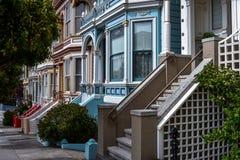 Victoriaanse huizen in San Francisco Royalty-vrije Stock Afbeelding
