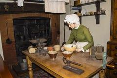Victoriaanse Keukenwederopbouw in Chester England stock foto's