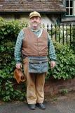 Victoriaanse kleinhandelaar in kostuum Royalty-vrije Stock Foto