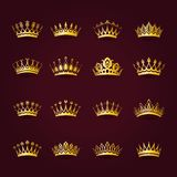 Victoriaanse kronen vector illustratie