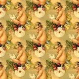 Victoriaanse naadloze engelen Royalty-vrije Stock Foto