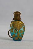 Victoriaanse parfumfles 1890 Stock Afbeelding