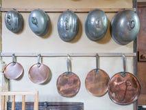 Victoriaanse Potten en pannen Stock Afbeelding