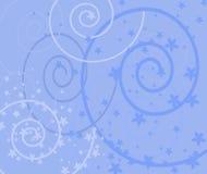 Victoriaanse stijl blauwe achtergrond Stock Afbeelding