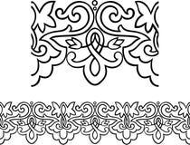 Victoriaanse stijl die grens herhaalt Stock Afbeeldingen