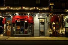 Victoriaanse Storefront bij Kerstmis-3 Royalty-vrije Stock Foto's