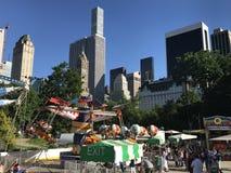 Victoriaanse Tuinen bij Wollman-Piste in Central Park in de Stad van New York Royalty-vrije Stock Foto's