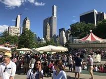 Victoriaanse Tuinen bij Wollman-Piste in Central Park in de Stad van New York Royalty-vrije Stock Foto