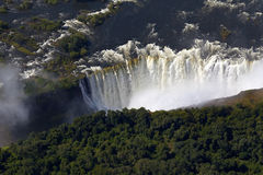 Victoriafalls. The high water leading Victoriafalls Stock Image